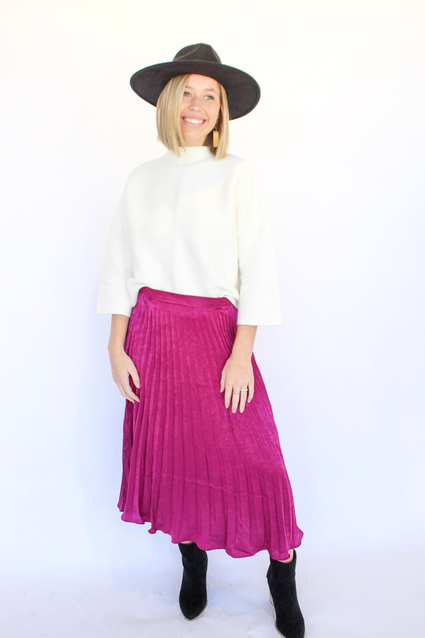 Inner Circle Pleated Skirt