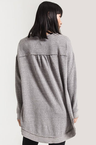 Z Supply The Triblend Vacay Pullover- Heather Grey