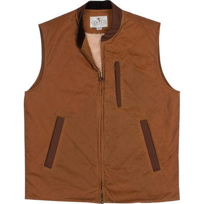 GenTeal - Waxed Cottn Vest- Oak