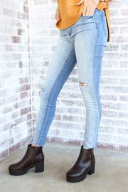 Articles of Society Hilary High Rise Jean - Two Tone
