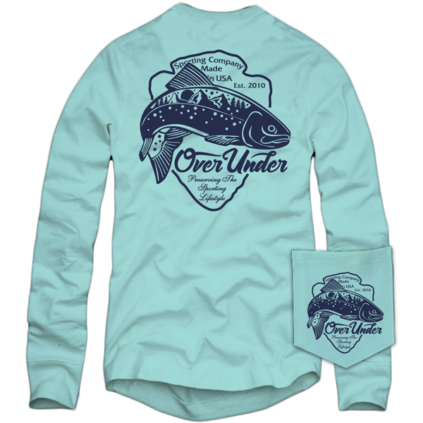 Over Under - Blue Ridge Trout LS Tee - Clearwater