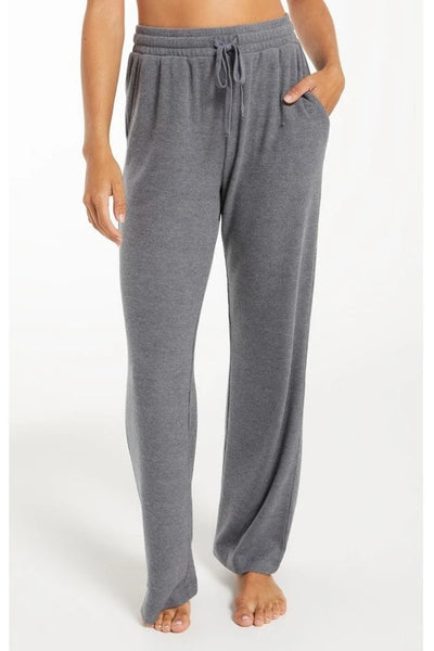 Z Supply Go With The Flow Rib Pant - Pewter