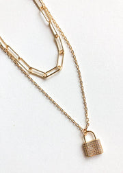 Hitched CZ Locket & Chain Necklace