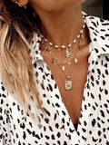 Bracha Oyster Pearl Necklace Gold