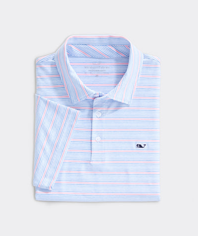 Vineyard Vines - Lakeworth Stripe Polo - Jake Blue