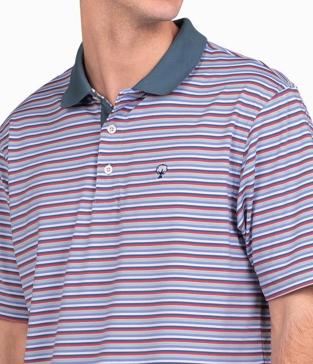 Southern Shirt - Dawson Stripe Polo - Gray Ridge