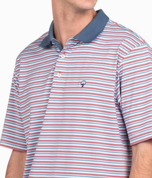 Southern Shirt - Dawson Stripe Polo - Juicy Fruit