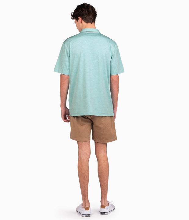 Southern Shirt - Grayton Heather Polo - Aqua Haze