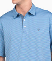Southern Shirt - Hamilton Stripe Polo - Barnacle