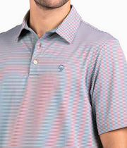 Southern Shirt - Hamilton Stripe Polo - Dusty Rose