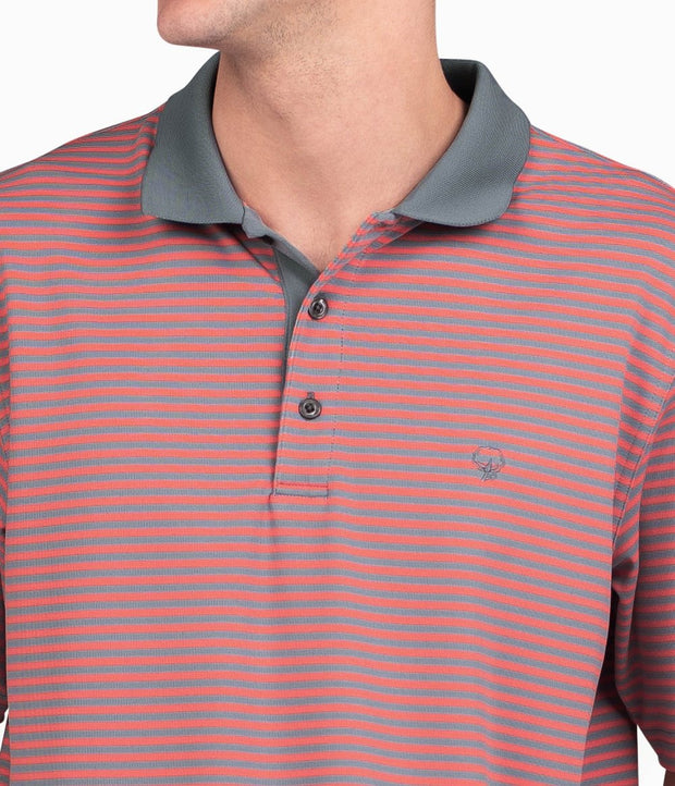 Southern Shirt - King Street Pique Polo - Nautical Red