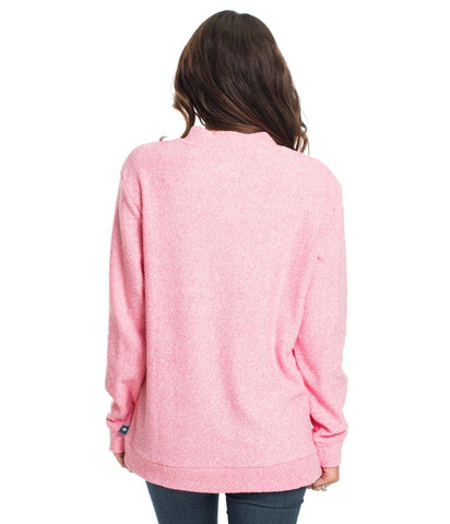 Southern Shirt Heather Loop Knit Terry Pullover - Himalayan Pink