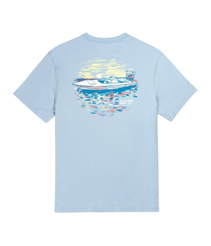 Over Under - Shotgun Flag SS Tee - Blue Sky