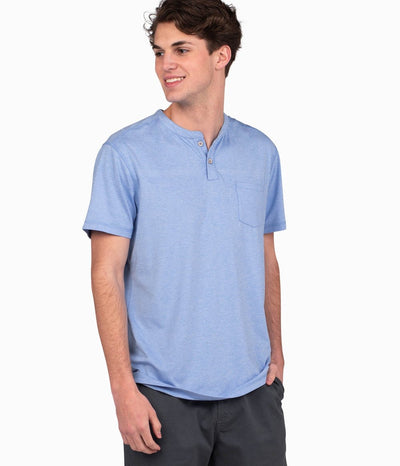 Southern Shirt - Vista Performance Henley - Marina Blue