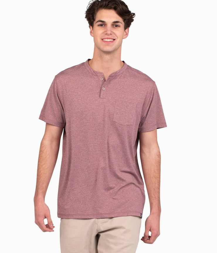 Southern Shirt - Vista Performance Henley - Weathered Red