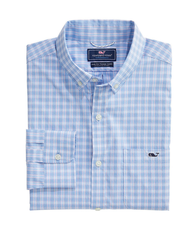 Vineyard Vines - Tangelo Performance Slim Tucker Shirt - Jake Blue