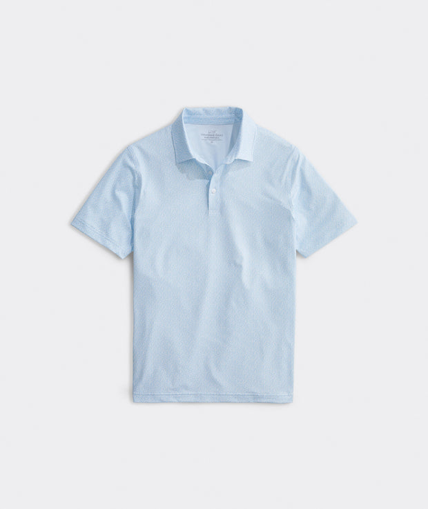 Vineyard Vines - Printed Sankty Polo - White Cap