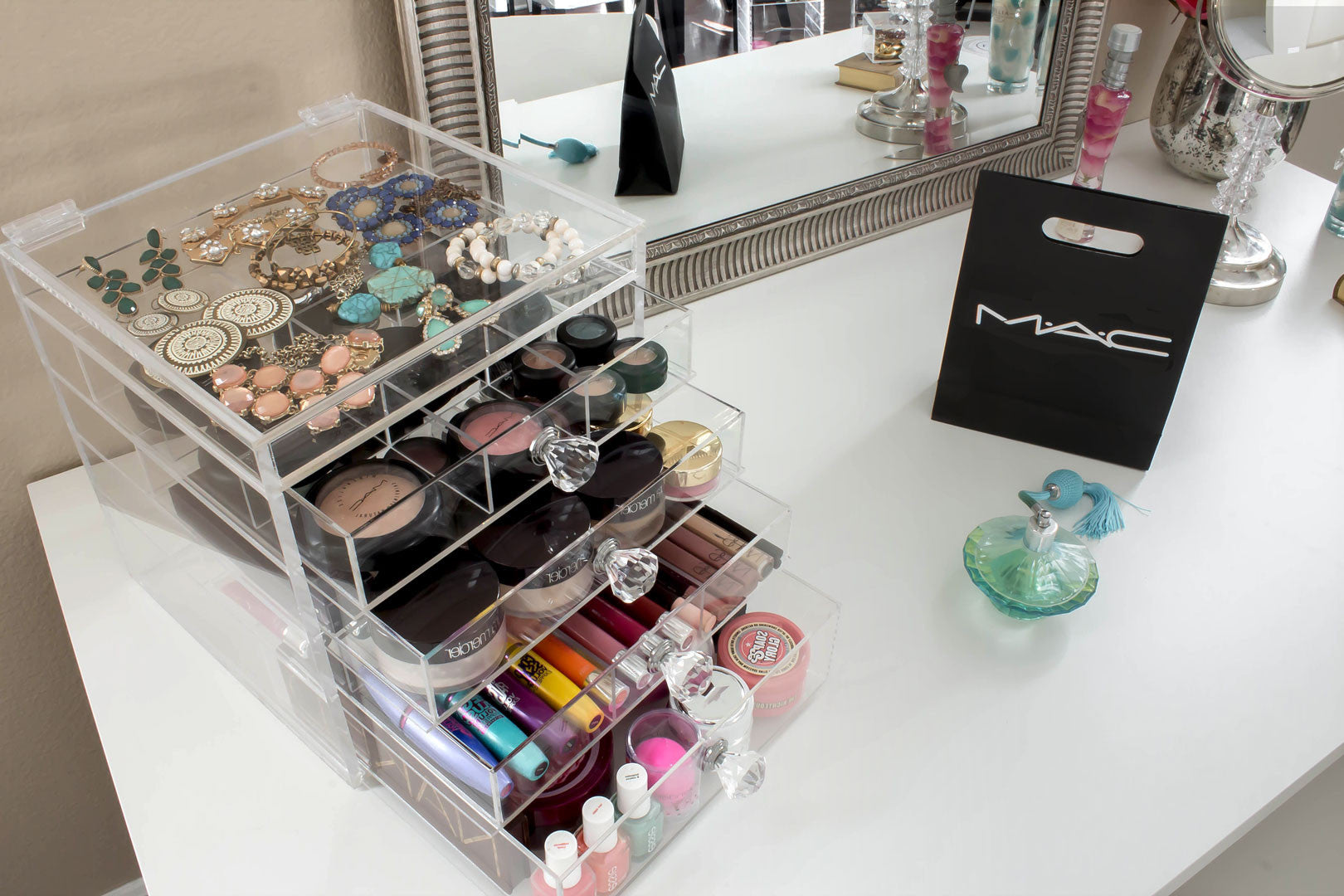How to de clutter your beauty cabinet kendi everyday - Pink Diamond Handles Cutie Cube Luxe