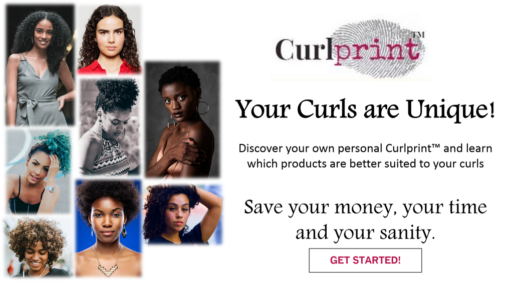 Collage of women of different ethnicities with naturally curly, kinky, or coily hair