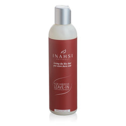 Inahsi Naturals Aloe Hibiscus Leave-in Conditioner and Detangler, 8 ounce bottle. Moisturizing leave-in conditioner for naturally kinky, curly, or coily hair.