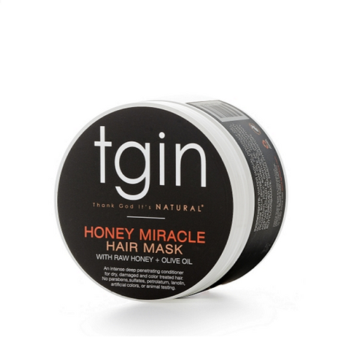 tgin Honey Miracle Hair Mask. 12 ounce jar. Deep treatment for dry curly, kinky or coily hair.