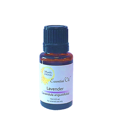 Sandra Marieta Lavender Essential Oil. 15 ml dropper bottle. Mix essential oils with water, carrier oil, conditioner, etc to take advantage of their many benefits for hair and scalp.