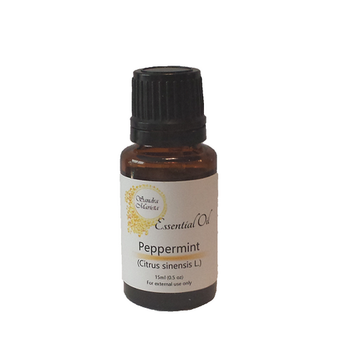 Sandra Marieta Peppermint Oil. 15 ml dropper bottle. Mix essential oils with water, carrier oil, conditioner, etc to take advantage of their many benefits for hair and scalp.