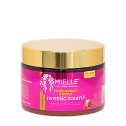 Mielle Organics Pomegranate & Honey Twisting Souffle. 12 ounce Jar. Conditions and protects natural hair.