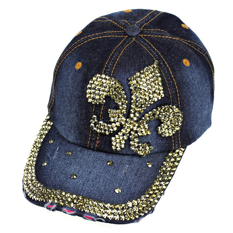 #denim and gold cap