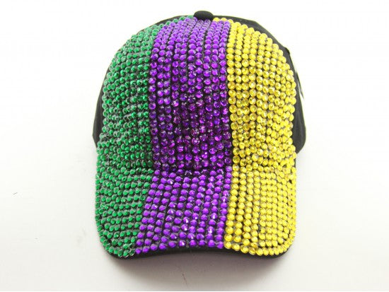 *Bling Mardi Gras cap striped