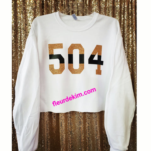 """Oversized"" 504  crop top"
