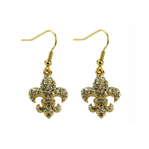 Bling goldtone earrings