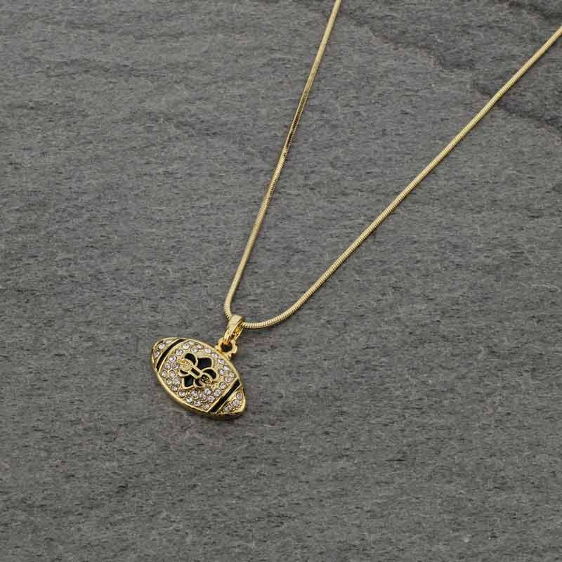 *new* Football necklace gold