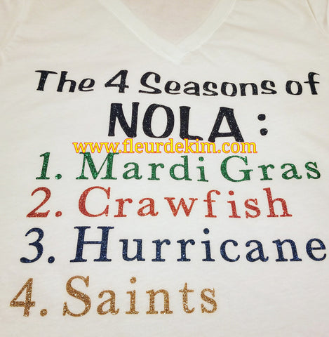 4 Seasons of Nola tshirt