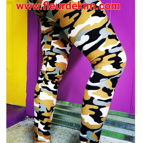 #BlacknGold camo tights