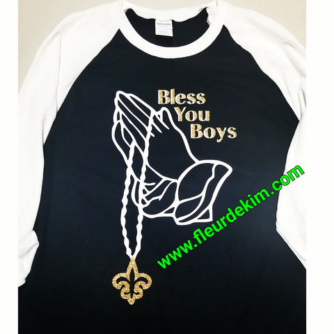 Bless you Boys baseball shirt