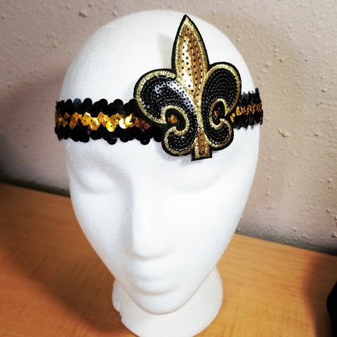 *Black n gold sequin headband