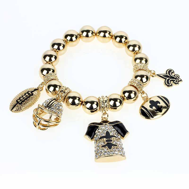 Charm bracelet  gold (somewhat rose gold)