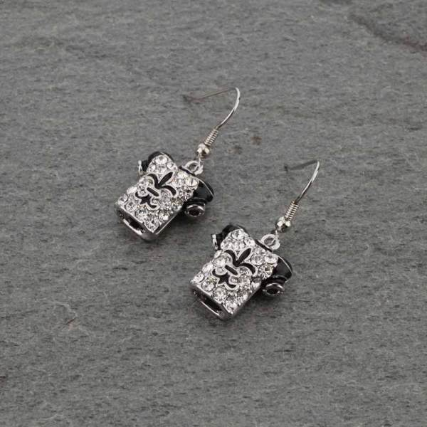 Silver  jersey earrings