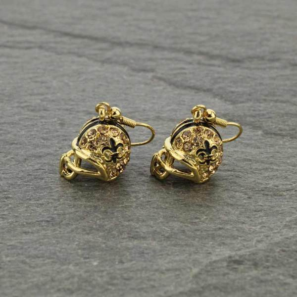 Golden helmet earrings