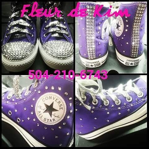 Bling  hi tops (ladies sizes)