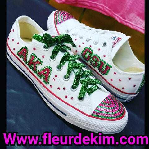 Bling sparkly tennis shoes Any initials in any colors (ladies sizes)