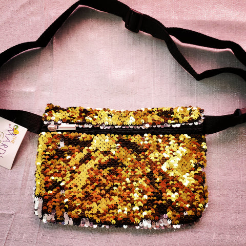 *Sequin* gold fanny pack