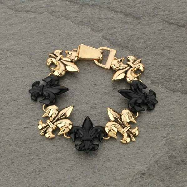 Black and gold magnetic bracelet