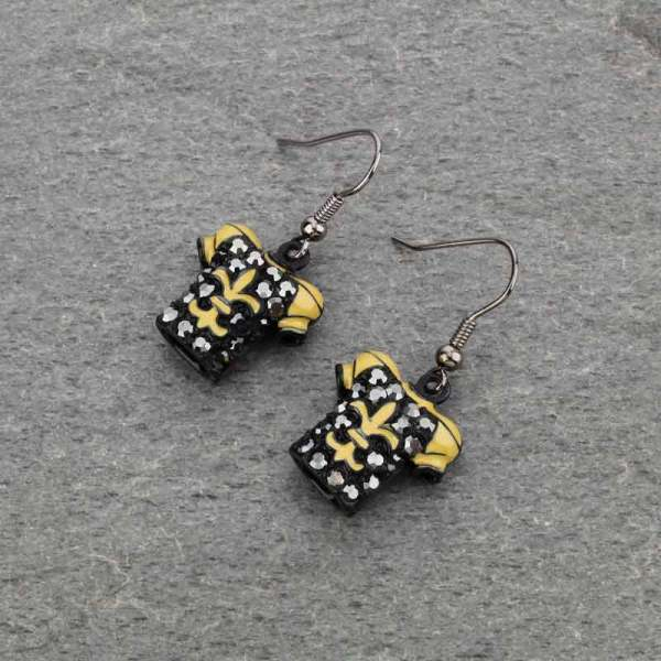 Black jersey earrings
