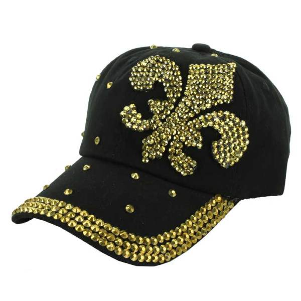 #black/gold 2 bling cap