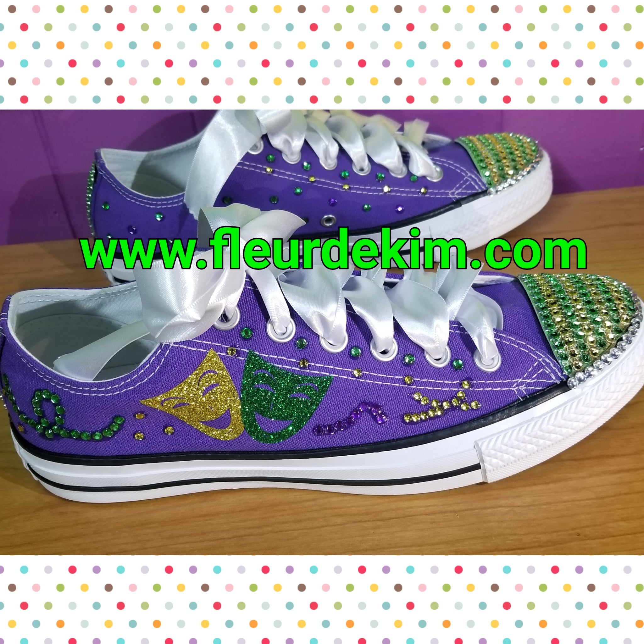 Mardi Gras mask shoes (ladies sizes)