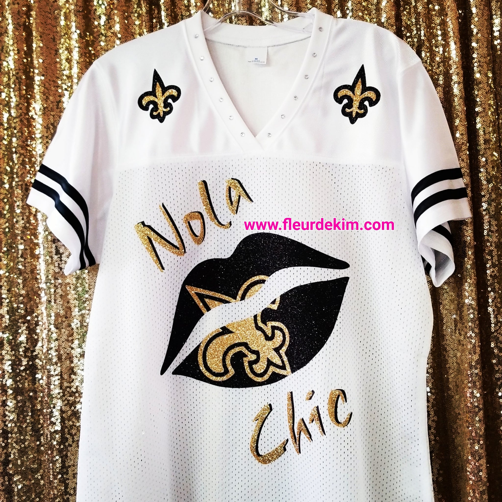 "#bling jersey ""Nola Chic"""