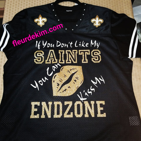 #bling jersey w/striped sleeves Kiss my Endzone