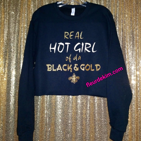 """Hot Girl"" sweatshirt oversized crop top"
